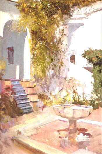 Rincon del grutesco del Alcázar de Sevilla