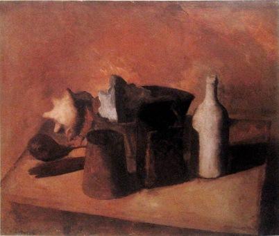 Naturaleza muerta, 1921 Óleo s/tela 49 x 58 cm. Milán, Pinacoteca de Brera. Donación Emilio y Maria Jesi