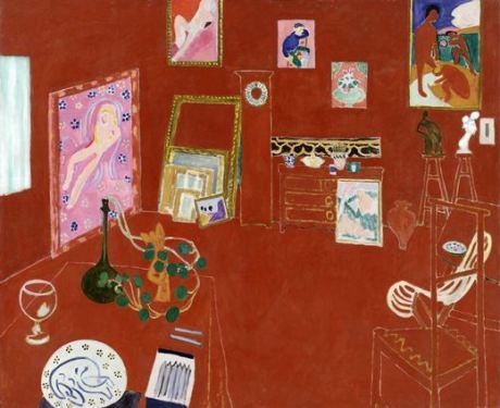 Henry Matisse, El estudio rojo, 1911. 181 x 219  cm. Mrs. Simon Guggenheim Fund. © 2012 Succession H. Matisse, Paris / Artists Rights Society (ARS), New York