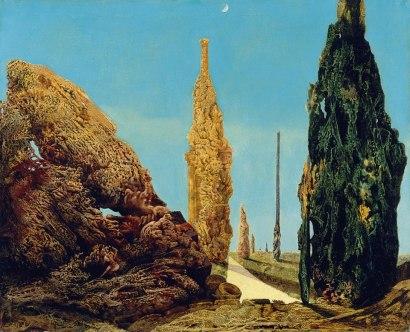 Arbol solitario y árboles juntos. Óleo s/lienzo 81.5 x 100.5 cm. 1940. Colección Thyssen Bornemisza, Lugano-Castagnola, Madrid