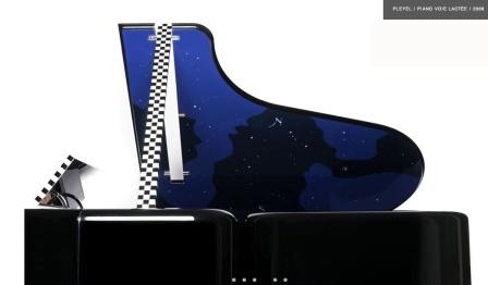 Pleyel, piano Vía Láctea, 2008