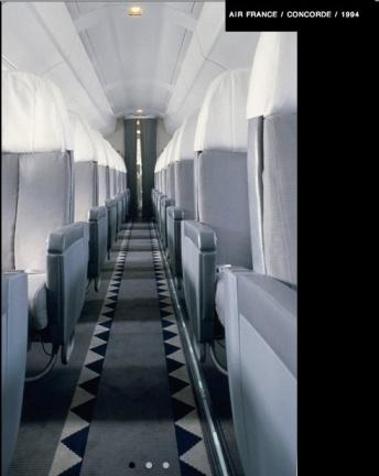Interior Concorde, Air France, 1994