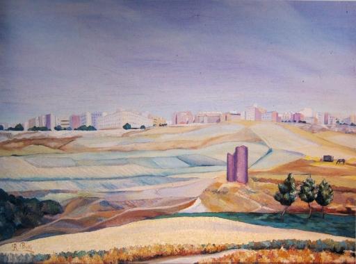 Paisaje de Madrid. 1942. Óleo s/lienzo, 60 x 81 cm.
