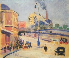 La estación de Atocha (Madrid). 1925. Óleo s/ cartón, 25 x 30 cm. Museo Municipal de Arte Contemporáneo, Madrid