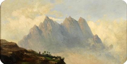 Mariano Fortuny. Paisaje, Atlas c. 1860 Óleo s/cartón 39,5 x 72 cm