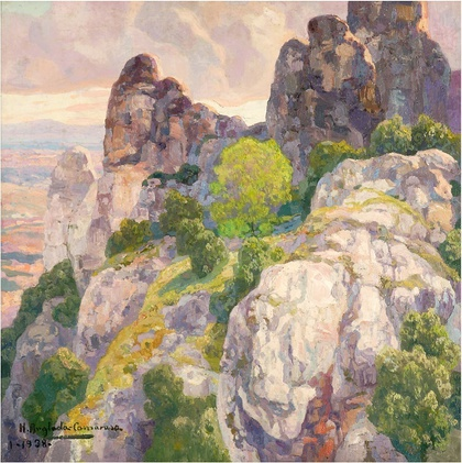 Anglada-Camarasa.Montserrat 1938 Óleo s/lienzo 60 x 60 cm