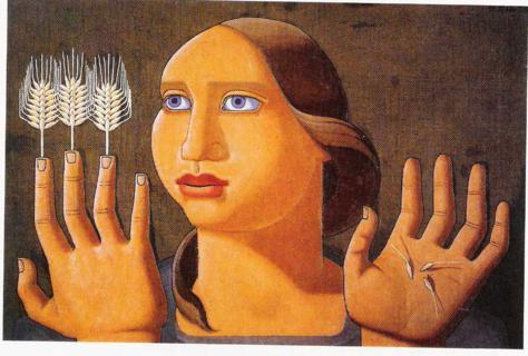 La sorpresa del trigo. 1937, Óleo s/lienzo 474 x 320 cm