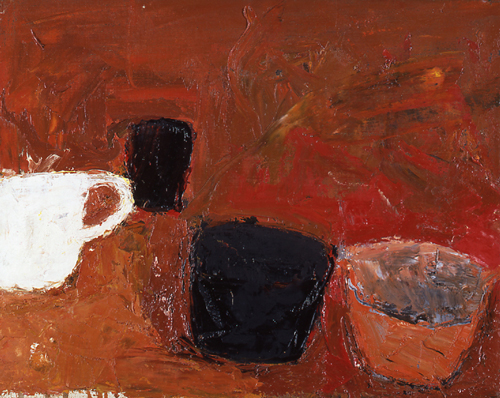 Bodegón, 1957, Óleo s/lienzo, 41 x 51cm Kettles Yard (Cambridge) www.museumwales.ac.uk © Estate of William Scott 2011