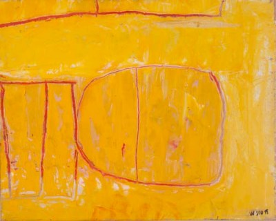 Yellow Matrix, 1962, Oil on canvas, 40 x 50cm (16 x 20 in) Fermanagh County Museum at Enniskillen Castle www.enniskillencastle.co.uk © Estate of William Scott 2011