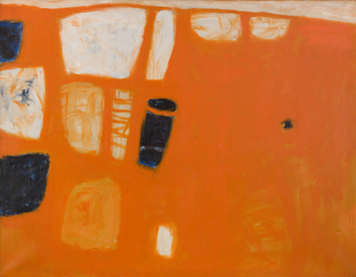 Naranja y rojo, 1957, Óleo s/lienzo, 86 x 112cm Cecil Higgins Art Gallery www.cecilhigginsartgallery.org © Estate of William Scott 2011