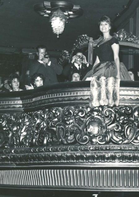 Sofía Loren en el Palacio de la Música de Madrid