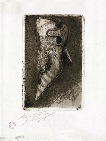 Zapato de raso (s.f.) Aguafuerte. Biblioteca Nacional, Madrid)