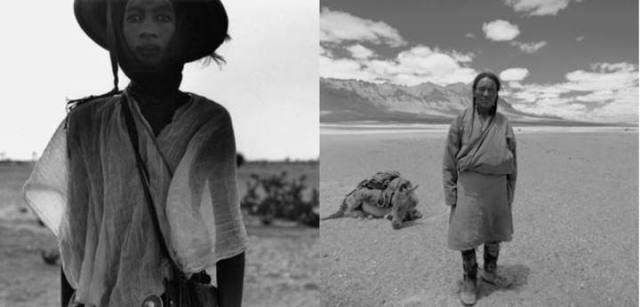 A la izda. 'Niger, 1975' de Bernard Plossu; a la dcha 'Ladakh, India, 1977' de Max Pam.PLOSSU-PAM (EFTI)