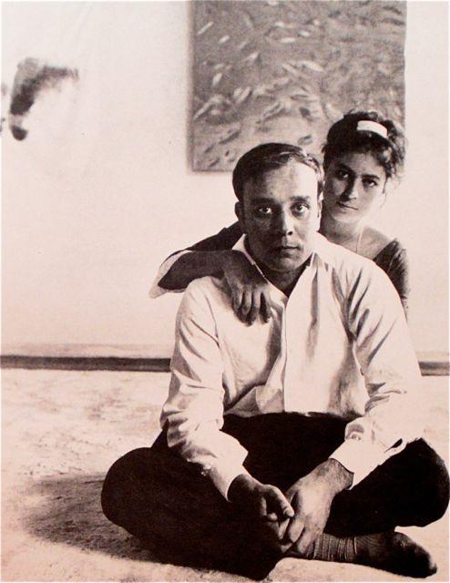 Yves Klein and Rotraut Uecker Paris 1961