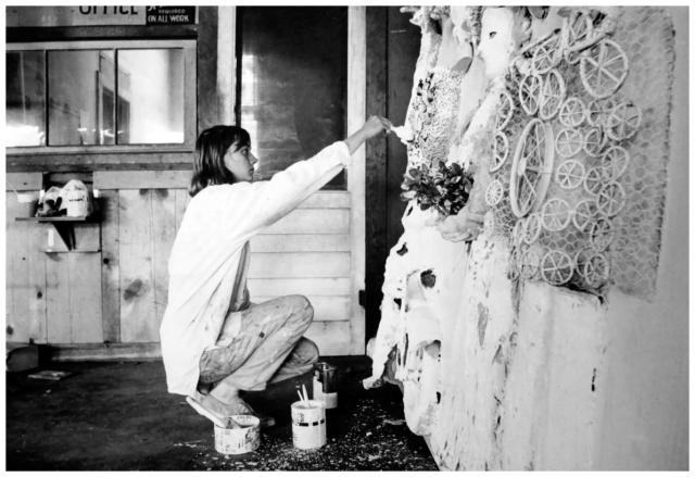 Niki de Saint Phalle fotografiada por Dennis Hopper
