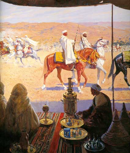 corrida-de-la-pc3b3lvora-vista-desde-la-tienda-de-un-beduino-de-bertuchi