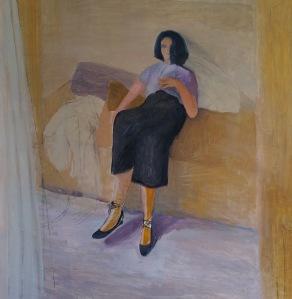 Interior 1-19. Óleo s/lienzo, 100 x 100 cm